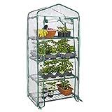 "GreenWise ® 4 Tier Portable Mini Greenhouse W/Clean Cover Winter Garden Plants Warm House - 27"" x 19"" x 63"""