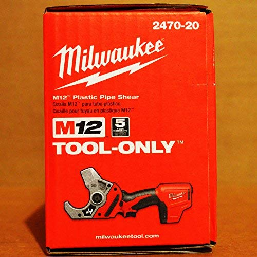 Review Milwaukee M12 12-Volt Cordless PVC Shear (2470-20) (Power Tool Only - Battery, Charger and Ac...