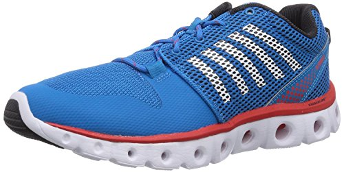 K-Swiss Men's X Lite Lightweight Training Shoe, Methyl Blue/Black/Fiery Red, 9 M US