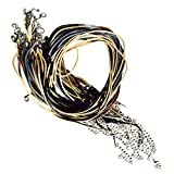 30 Earth Colors Imitation Leather Cord Necklaces 18inch Lobster Claw Clasp