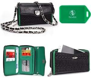 Acer Liquid C1 *SplaSh series* Cross Body wallet w/ exterior phone pocket in emerald green PLUS Bonus Neviss Luggage...