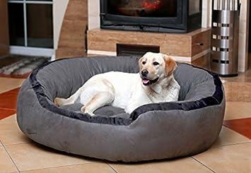 tierlando LA3 - 06 LANA Sofá para perros cama perro Terciopelo MEGA grueso relleno Gr. M 80 cm Gris: Amazon.es: Productos para mascotas