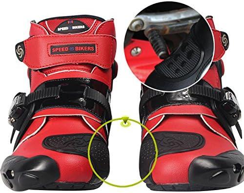 SZBYKJ Men Soft Motorcycle Boots Biker Waterproof Speed Motocross Boots Non-Slip Motorcycle Shoes