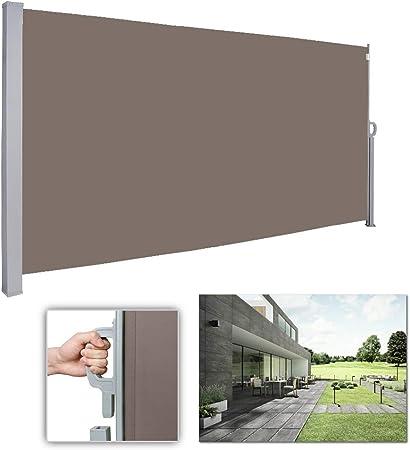 180*300cm Seitenmarkise Sonnenschutz Terrasse Balkon Vollkassette Markise UV