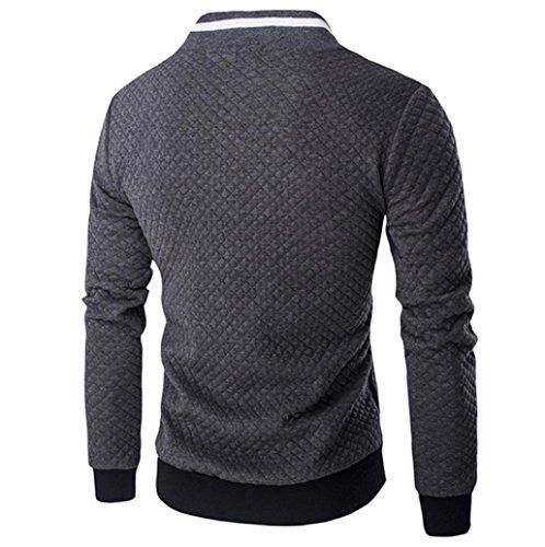 Maniche Uomini Lunghe Cardigan Scuro Harrystore Outwear Giacca Comprimere Grigio Cime Felpa Baseball Mens' C4dxxqRtw