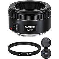 Canon EF 50mm f/1.8 STM Lens with 49mm UV Filter For Canon Digital SLR Cameras