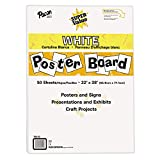 """Pacon Super Value Poster Board, 22""""X28"""", White, 50 Sheets"""