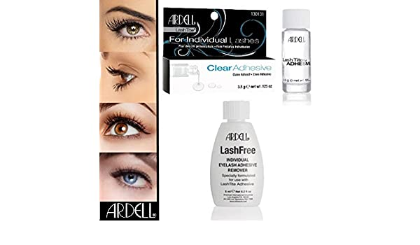Juego de 2 Ardell Lashes Artificial pestañas postizas pegamento Lash STA-TITE Clear + Ardell lashfree Remover Entferner: Amazon.es: Belleza