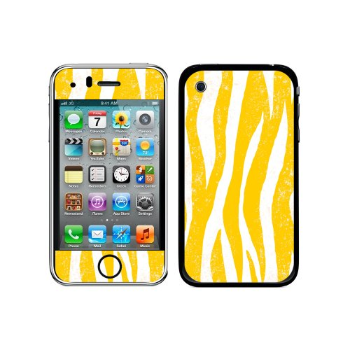otective Skin Sticker Case for iPhone 3G 3GS - Non-Retail Packaging - Zebra Distressed Sunflower (Iphone 3g Zebra)