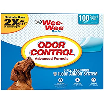 Four Paws Wee-Wee Odor Control Training Pads, 100 QUILTED PADS