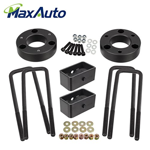 "MaxAuto Suspensions Leveling Kit, 3"" Front 2"" Rear Lift Kit Struts Spacers Compatible w/ 2007-2017 Chevy Silverado GMC Sierra 1500 Chevy Tahoe GMC Sierra Chevy Suburban 1500 GMC Yukon"