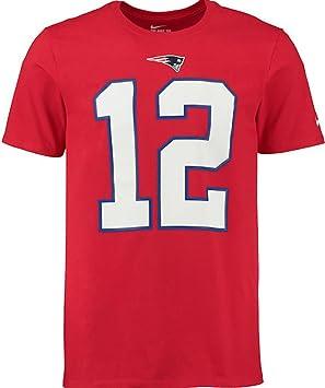 Nike Tom Brady - Camiseta con el nombre y número de los New England Patriots., Large, Rojo: Amazon.es: Deportes y aire libre