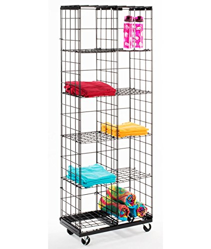 1-Mobile Gridwall Panel Wire Display Rack & 10 Acrylic T-Shirt Grid Holders New by Bentley's Display