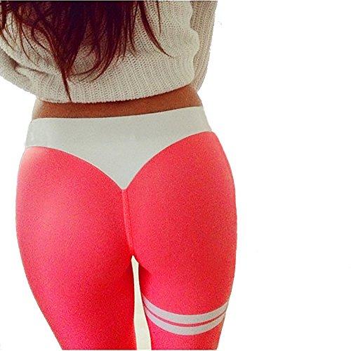 Haute Pantalons Yoga de Skinny Gym Sportswear Pantalon Femmes Fitness Beikoard Leggings Taille V Femme Femmes qKUwHRTt1T
