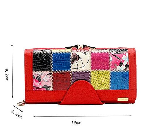 Red 4 violet 2cm Eysee femme Pochette 19cm pour 9 2cm Rouge qHBvgw