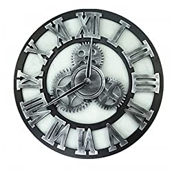 MODE HOME 16 3D Vintage Wooden Gear Wall Clock Decorative Big Size Kitchen Wall Clock
