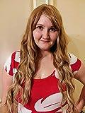 Netgo Women's Brown Mixed Blonde Wig Long Fluffy