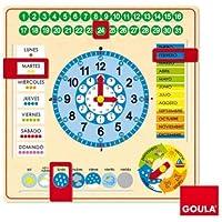 Goula - Reloj y Calendario en Castellano, Material