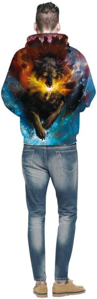 LUO Hoodies Mens Pullover 3D Sweats Hommes et Femmes Streetwear Sweat À Capuche Vêtements Drôles,S ** L