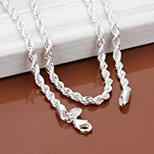 Fashion Snake Rope Chain 925 Sterling Silver Men Women Jewelry Necklace 16-30'' BySumanee (24)