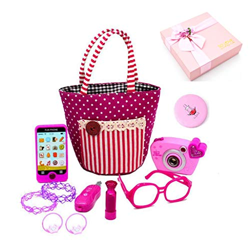 ZHOUWHJJ My First Purse Pretend Play Make up Set 11 PCS, Pretty Role Play Toy for Girls, Educational Pretend Toy for Preschoolers and Toddler Purse, Christmas, Birthday, New Year, in Gift Box