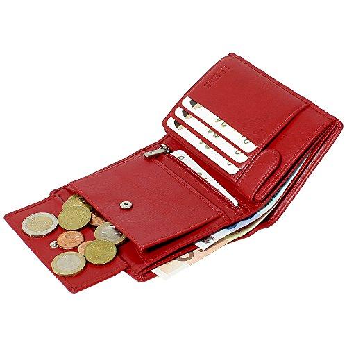 be21b6978600a Damen Leder Kombibörse Geldbörse Damenbörse in Rot  Amazon.de  Schuhe    Handtaschen