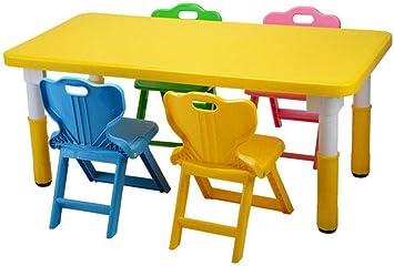 QKDSA Silla de Mesa para niños (5 Asientos para niños con 1 Juegos ...