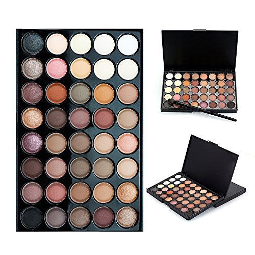 40 Color Eyeshadow Palette, KRABICE Eyeshadow Palette, Bold and Bright Collection, Vivid, Eyeshadow Eye Shadow Palette Makeup Kit Set #1