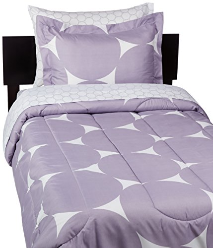 amazonbasics 5 piece bed in a bag twin twin extra long purple mod dot buy online in uae. Black Bedroom Furniture Sets. Home Design Ideas