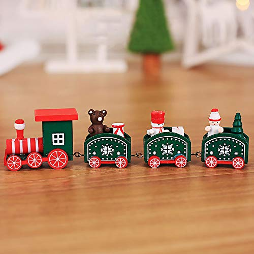 Railway Control Wooden Remote - Wooden ChildrenTrain Track Toy, Playset Santa Clasus City Railway Toy Model Gifts for Kids Boy