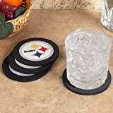 NFL Pittsburgh Steelers 4-Pack Round Neoprene Coaster Set