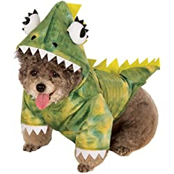Rubies Costume Halloween Classics Collection Pet Costume, Small, Green Dinosaur Hoodie