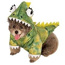 Rubies Costume Co Halloween Classics Collection Pet Costume, X-Large, Green Dinosaur Hoodie