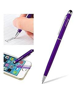 """Motorola Moto G """"Callisto"""" Purple Aluminum 2 in 1 Mini Stylus Pen Combo"""