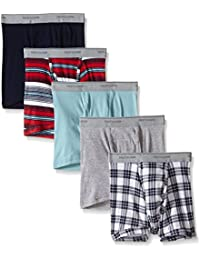 Fruit of the Loom Men's Assorted Color Short Leg Boxer Brief(Pack of 5)