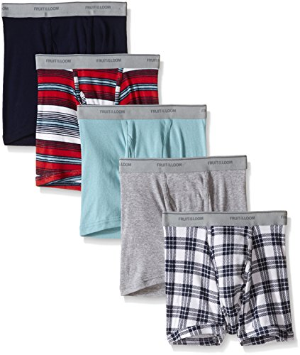 Fruit of the Loom Men's Color Short Leg Boxer Brief, Assorted, Medium(Pack of 5) by Fruit of the Loom