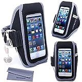 iPhone 5s Armband, iPhone SE Armband, Wisdompro® Sports Running Armband Case with Headphones