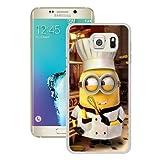 S6 Edge+ Case,Minion-Chef White Samsung Galaxy S6 Edge Plus Screen Phone Case Unique and Grace Design
