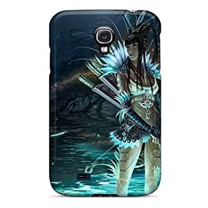 New Galaxy S4 Case Cover Casing(warrior Tribal Girl)