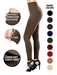 SEJORA Fleece Lined Leggings High Waist Compression Slimming Warm - Many Colors