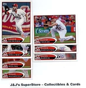 2012 Topps Opening Day St. Louis Cardinals Team Set - 7 Cards with Yadier Molina, Berkman, Chris Carpenter, David Freese & more