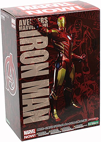 Kotobukiya Marvel Comics: Iron Man Avengers Now! ArtFX+ Statue (Red Color Variant) (Marvel Avengers Collectible Stand compare prices)
