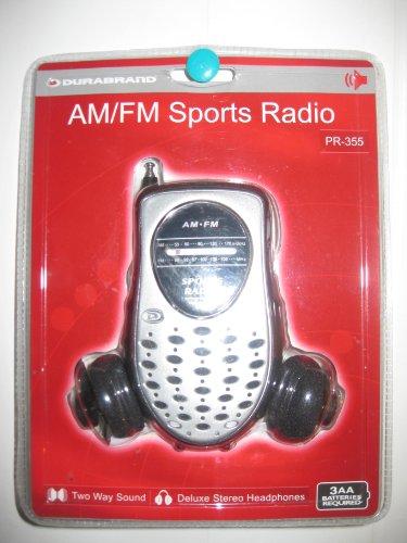 (Am/fm Sports Radio Two Way Sound Deluxe Stereo Headphones Pr-355)