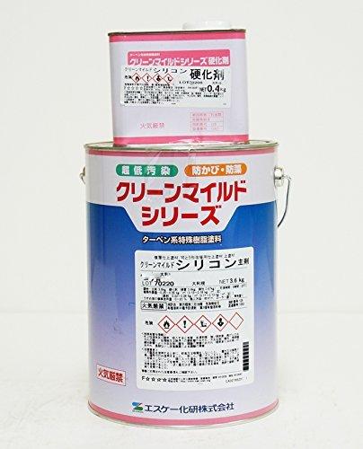クリーンマイルドシリコン 3分艶 4kgセット 淡彩色 SR-402【メーカー直送便/代引不可】エスケー化研 外壁 塗料 B075MCHTGZ