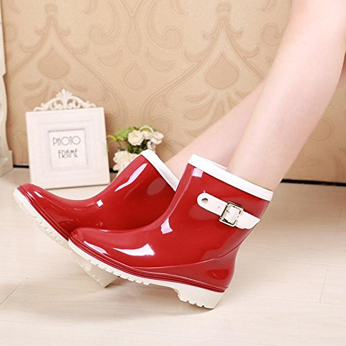wear jelly shoes rain overshoes boots red boots QQnvYUXUE Y Ms amp;JAXIE tube rain waterproof XIx7S01