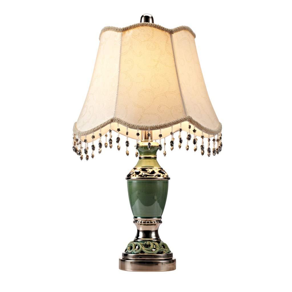 装飾テーブルランプ、セラミックス寝室のベッドサイドランプのリビングルームライト暖かいクリエイティブホール展示テーブルランプ30 * 30 * 58センチ (色 : 緑) B07RDBFJPM 緑
