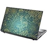 """TaylorHe Laptop Skin Pegatina de vinilo Adhesivo para portátiles 15,6"""" 15"""" (38cm x 25,5cm) Productos de Gran Bretaña vides, flores, azul"""