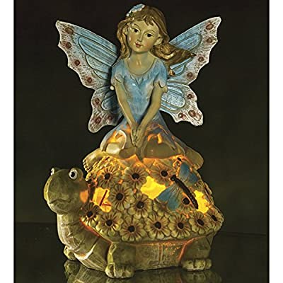 Fairy Butterfly Wings Turtle Solar Garden Light