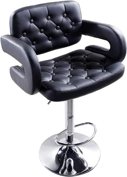 Set of 2 Modern Leather Bar Stool Hydraulic Swivel Dinning Chair Pub Barstools