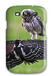 Premium Tpu The Owl & The Woodpecker Cover Skin For Galaxy S3